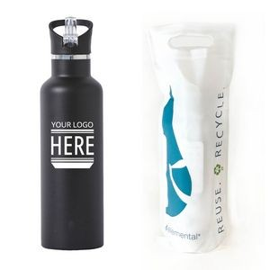 25 Oz. Elemental� Sport Stainless Steel Water Bottle - Vacuum Insulated Canteen